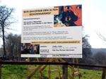 Baustellenschild, Aluverbund-Platte
